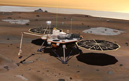 Phoenix Lands on Mars! Фото с Марса