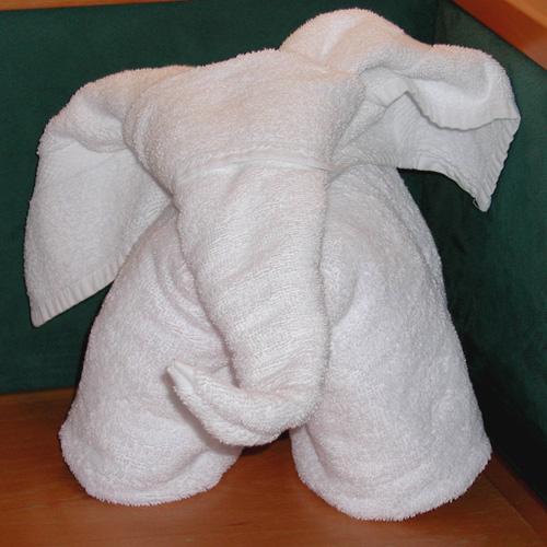 Как сделать слона из полотенец