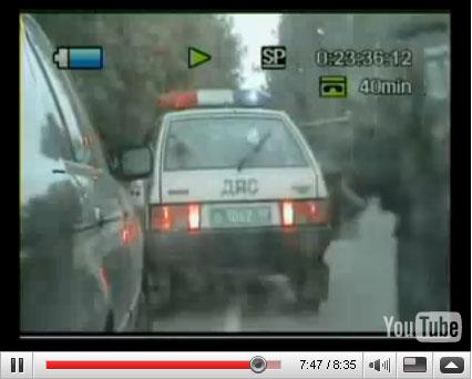 Парень на БМВ путается уйти от ДПС (Съемка погони из машины ГИБДД)